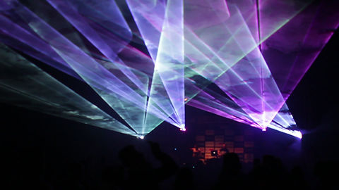 Concert in Portland Maine with Laser Light Show