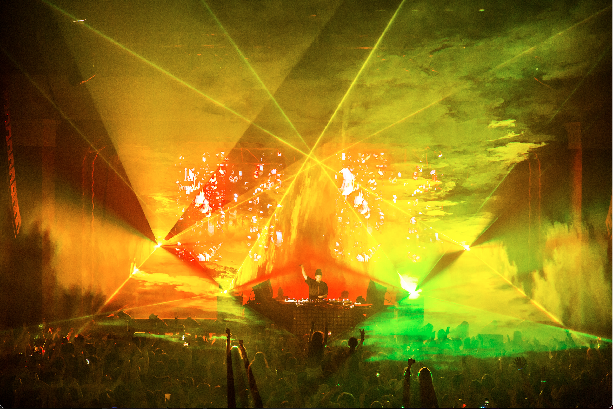 Concert Lasers at The Armory, Minneapoli