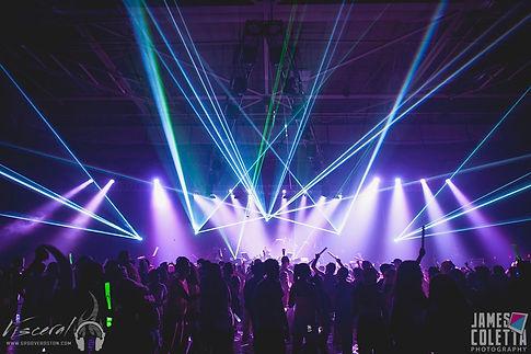 Skyway Theatre Laser Light Show for Concert in Minneapolis