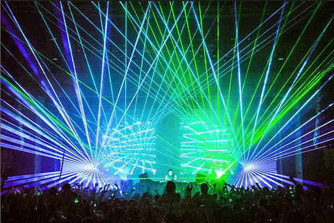 EDM Concert Laser show Professional Echostage