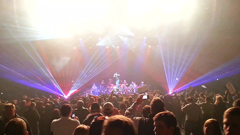 Kid Rock performs with laser show in Nashville TN
