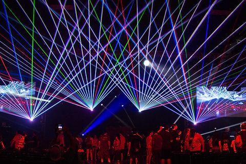 Kansas City Convention Center Laser Light show