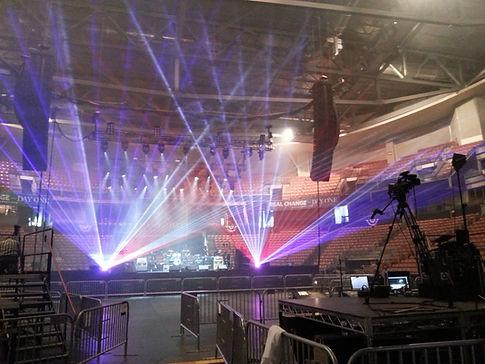 Target Center Concert Lasers Minneapolis