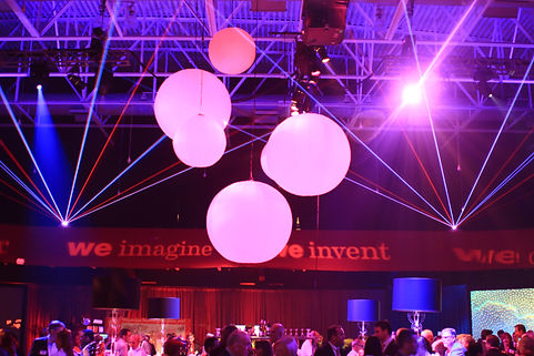 Lasers and Balloon Drop For Special Event