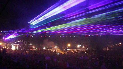 Outdoor laser light show in New Jersey