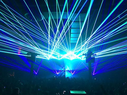 Detroit, MI Warehouse Rave Concert Laser show