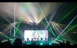 The Wellmont Theater Concert Laser Light