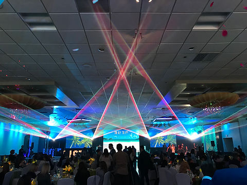 Special Event Laser Ceiling effect