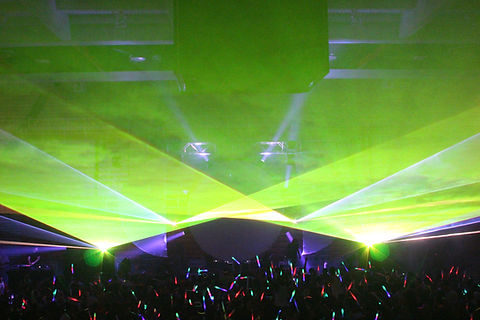SNHU Arena Concert Laser show Manchester, NH