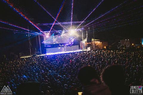Concert Laser Light show at Ski Resort