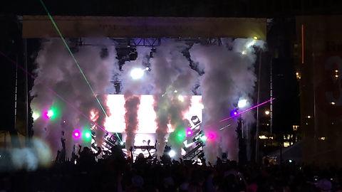 Atlanta GA Laser Show with cryo at a nightclub.