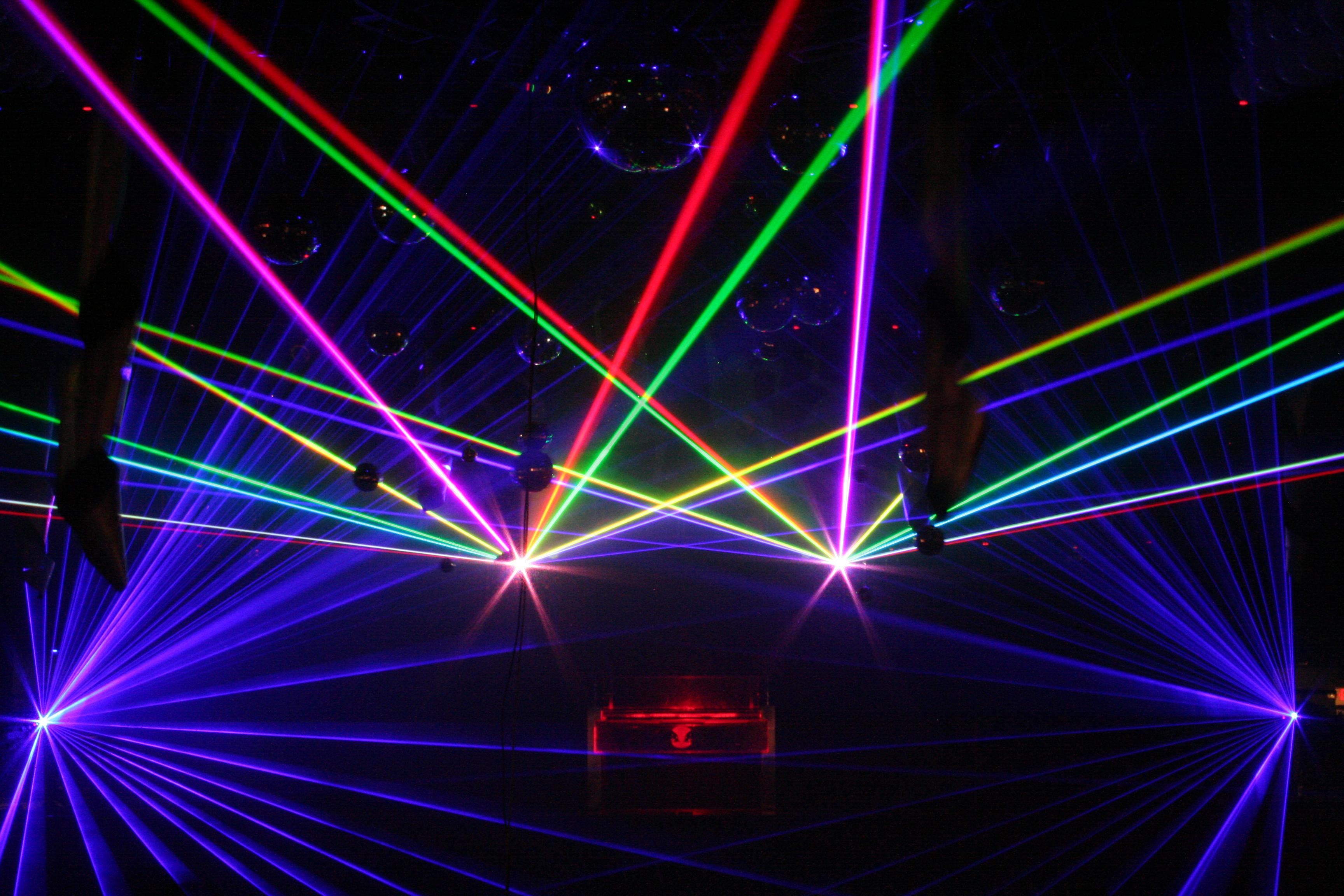 Club laser show in Hartford CT