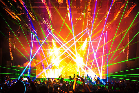 Concert Laser Light Show for Hardwell in Seattle