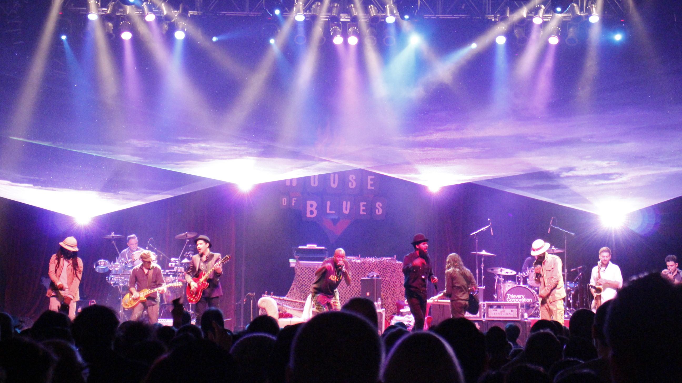 House of Blues Houston, TX Concert Laser