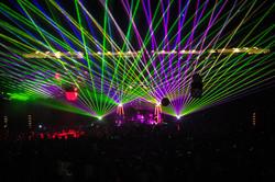 Concert Laser Lights at Fete Music Hall