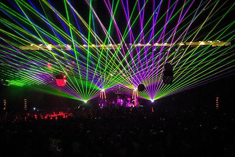 Concert Laser Lights at Fete Music Hall  Providence