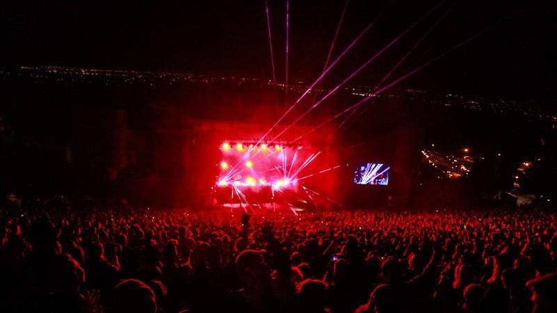 Red Rocks EDM Concert Lasers Denver, Col