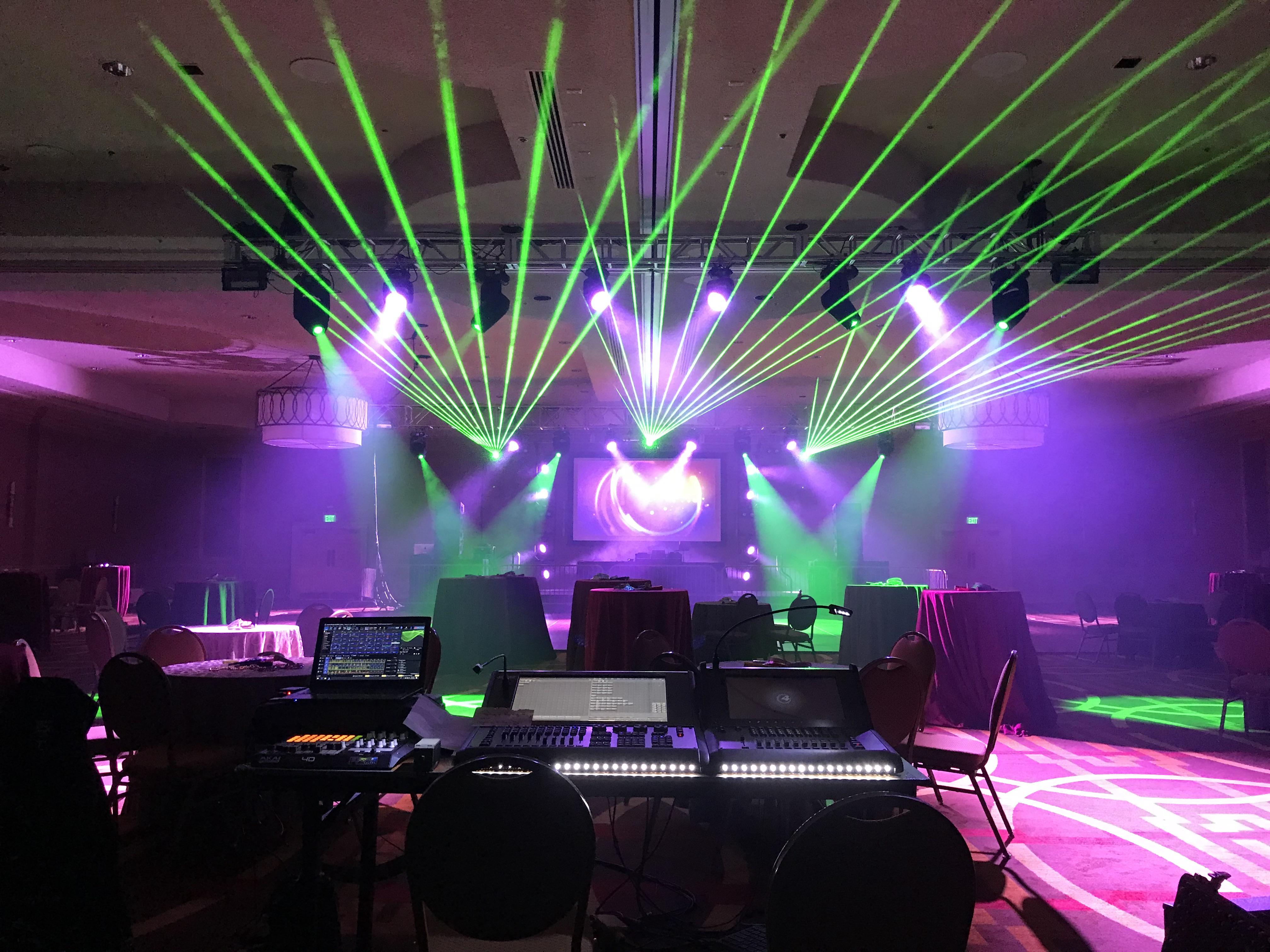 Hynes Convention Center Laser Lights