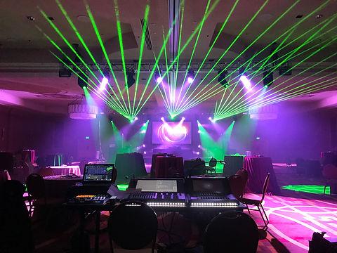 Hynes Convention Center Laser Lights show