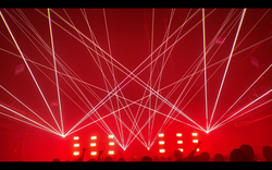 DTE Energy Music Theatre Concert Laser L