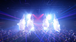 Special Event Laser Installation in Club