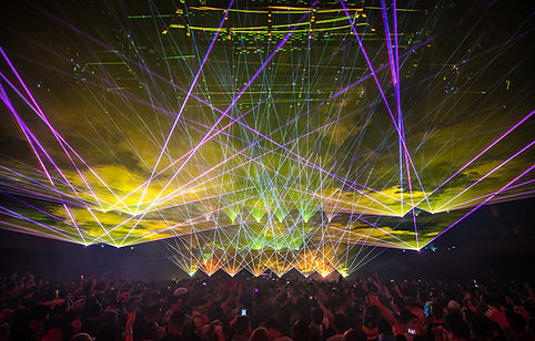Laserface Concert Laser Show Terminal 5 NYC
