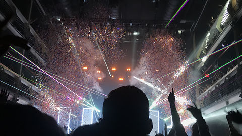 Thalia Hall Concert Special Effects C02 Cryo and lasers