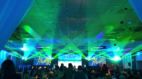 Corporate laser show for special event in Boston, MA