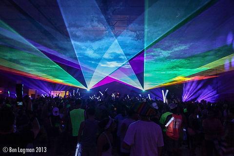 Bayfront Park Ampitheatre Concert Laser show