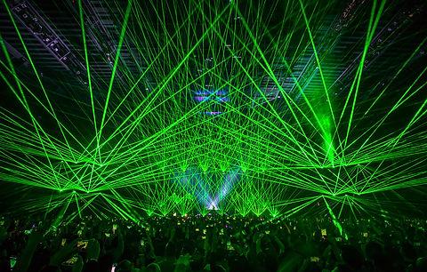 Laserface at Bill Graham Civic Auditorium San Francisco