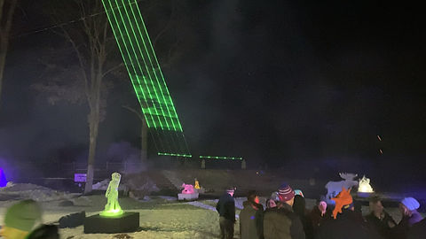 Laser light show at a ski resort outside manchester NH, New Hampshire