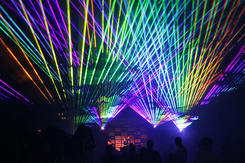 Laser show in Providence Rhode Island Concert