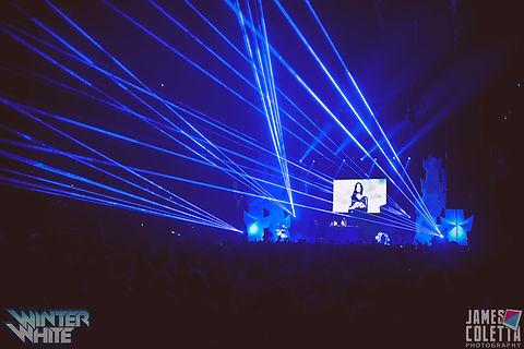 T-Mobile Center Laser Light Show Concert