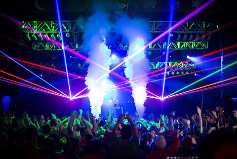 McMenamins Crystal Ballroom Special Effect Laser Show