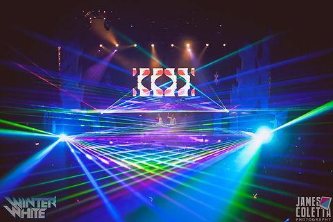 SAP Center at San Jose Concert Laser show