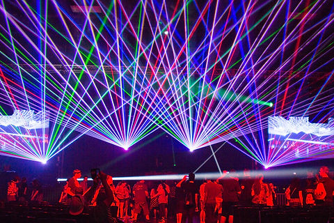 Texas laser show at corporate event