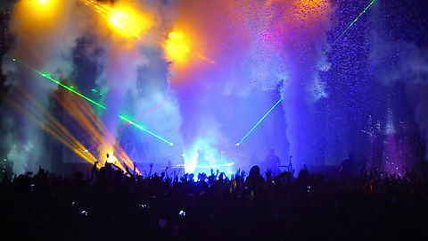 Concert in Richmond Virginia with laser light show and special effects