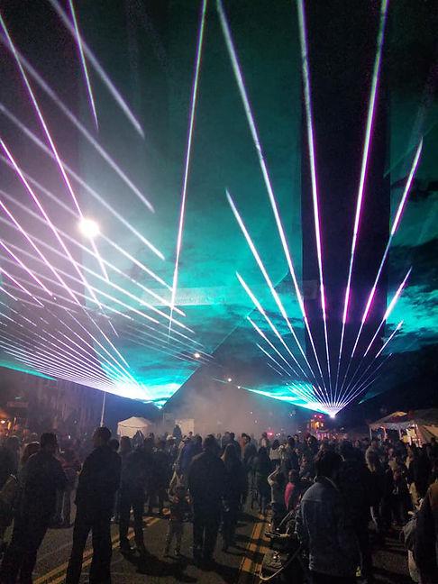 Denver Colorado civic Event Laser show