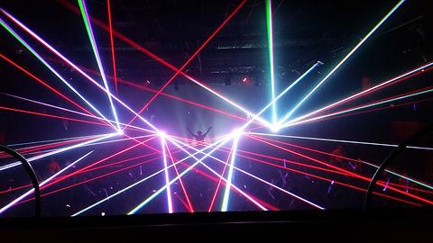 Miami, FL Club Concert Laser Lights Install