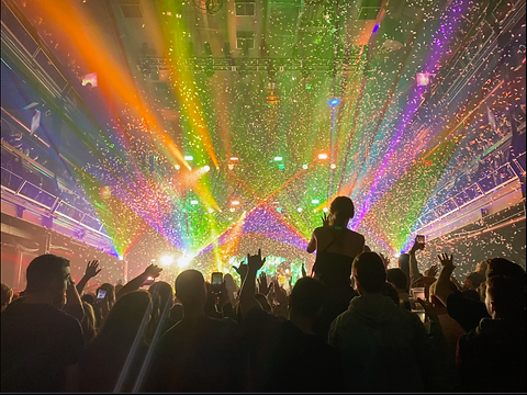 Terminal 5 Confetti, Cryo, & Concert Lasers NYC