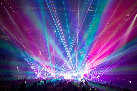 Saint Andrew's Hall Detroit MI Concert Laser light show