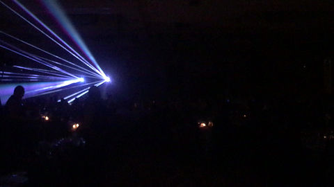 Corporate event with special event laser light show