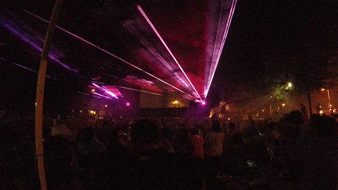 Outdoor laser show for civic event in Pittsburgh PA