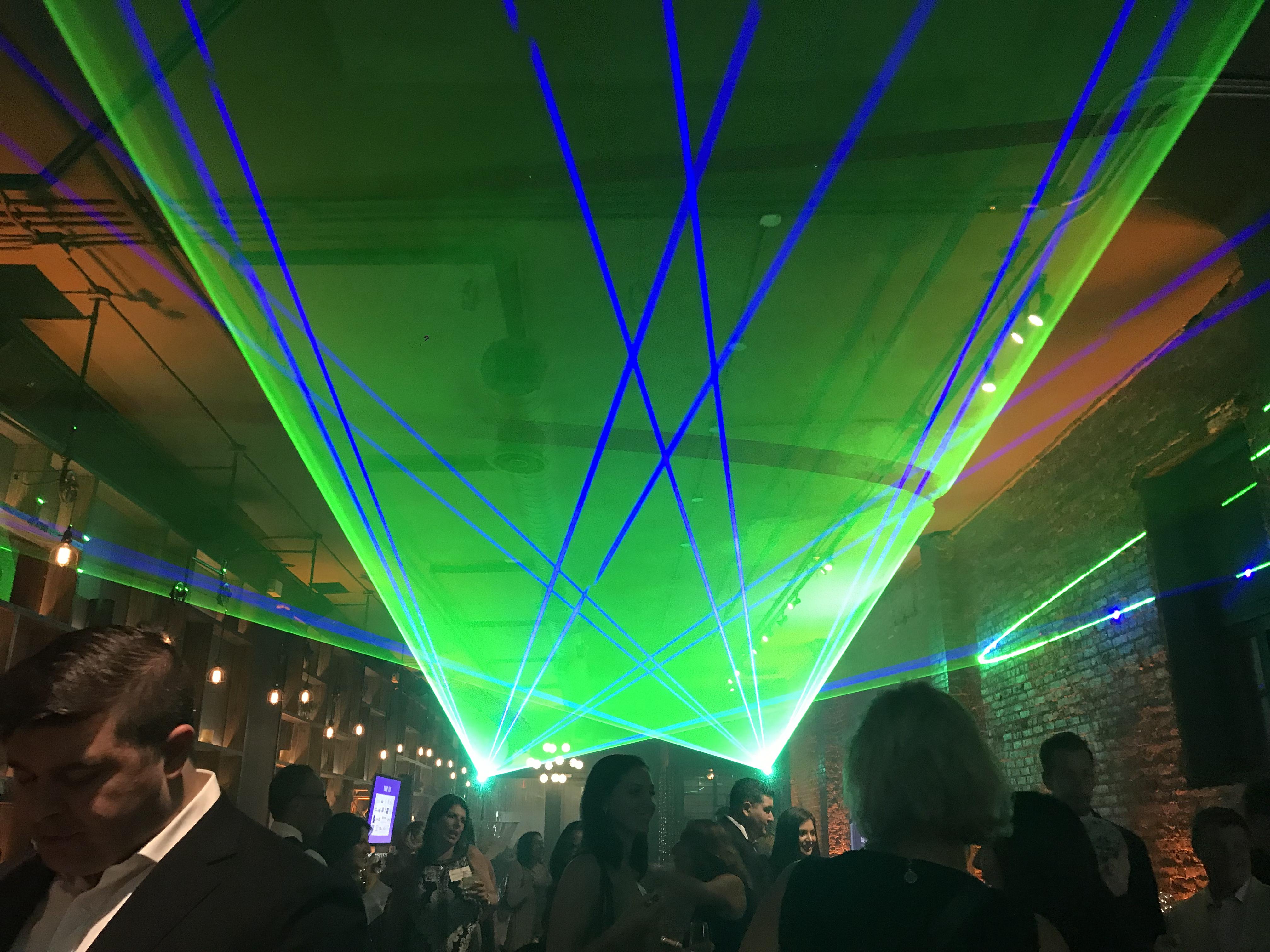 Laser Installation Concert Club Lasers
