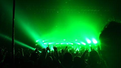 concert Laser show in San Francisco