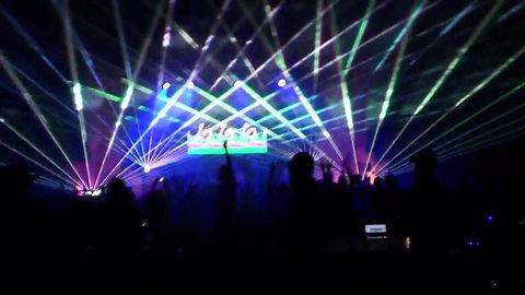 Concert laser show at arena in Newark NJ