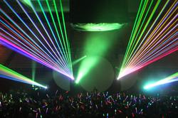Concert Laser Lights at the Webster Thea