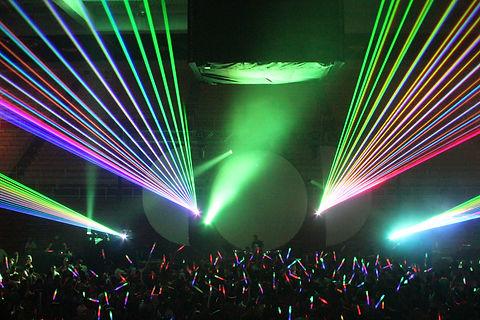 Concert Laser Lights at the Webster Theater Hartford CT