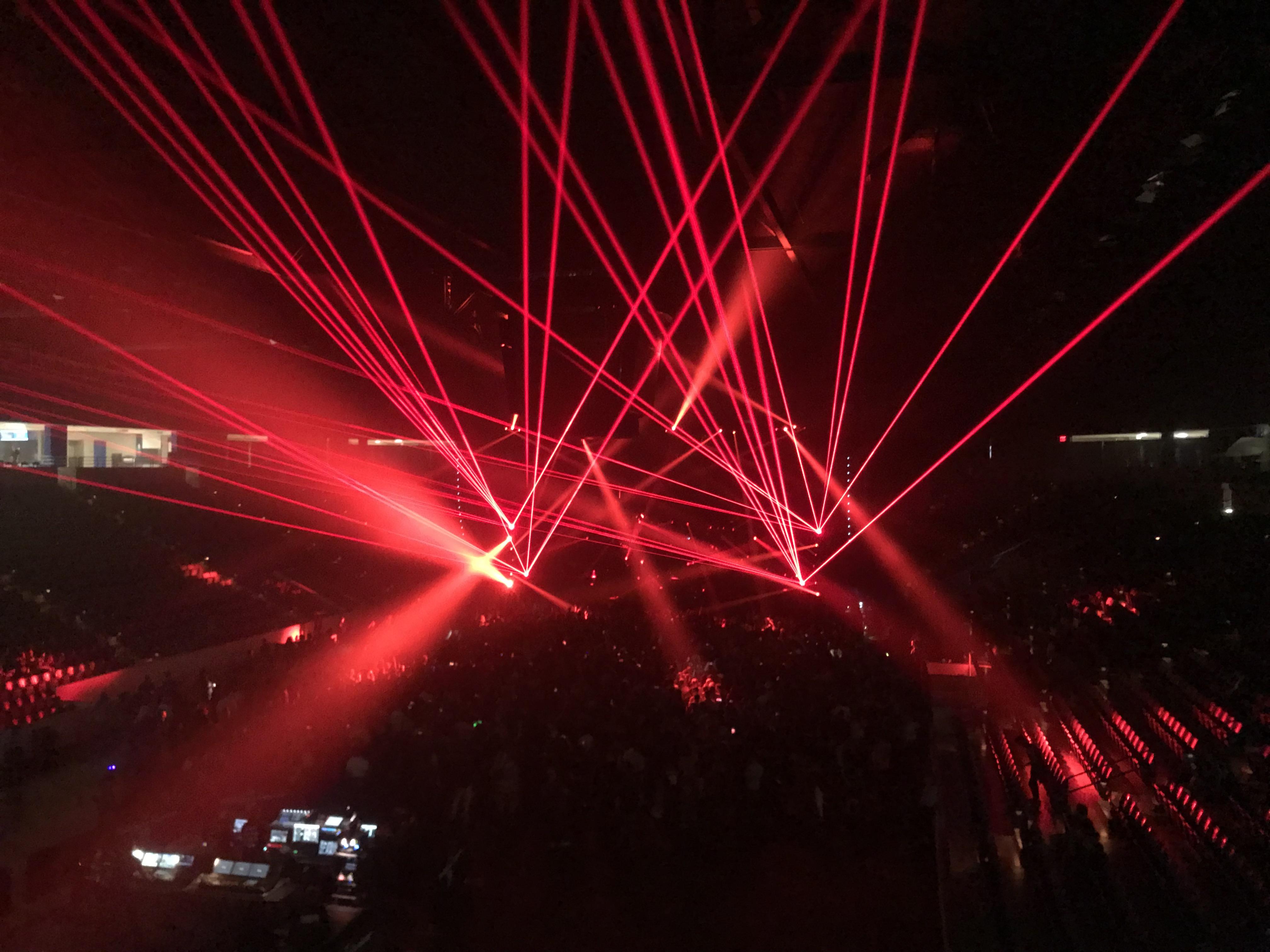 Wintrust Arena Concert Lasers Chicago, I