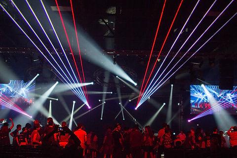 The Depot Professional Concert Laser Light Show SLC Utah